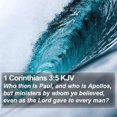 1 Corinthians 3:5 KJV Bible Verse Image