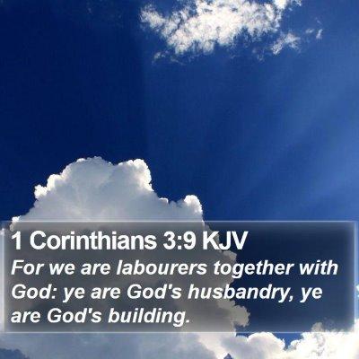 1 Corinthians 3:9 KJV Bible Verse Image