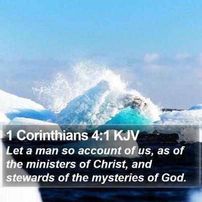 1 Corinthians 4:1 KJV Bible Verse Image