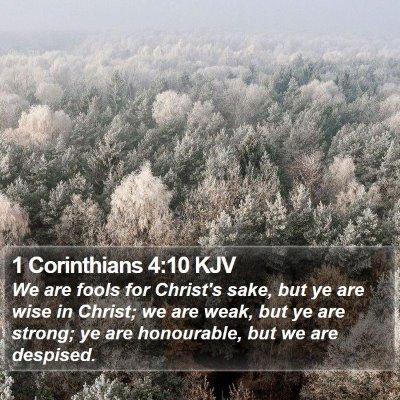 1 Corinthians 4:10 KJV Bible Verse Image