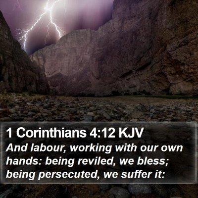 1 Corinthians 4:12 KJV Bible Verse Image