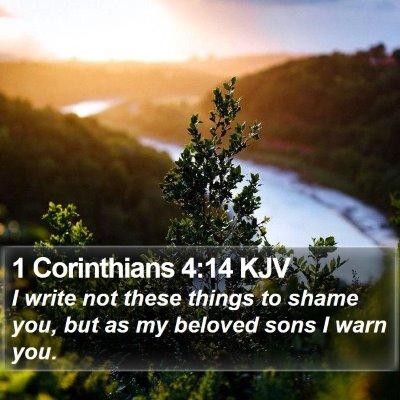 1 Corinthians 4:14 KJV Bible Verse Image