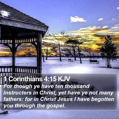 1 Corinthians 4:15 KJV Bible Verse Image