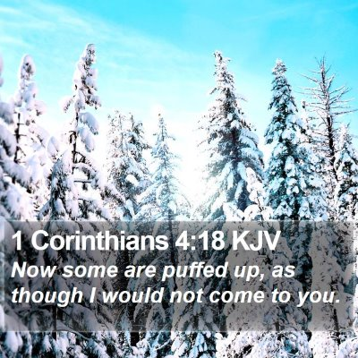 1 Corinthians 4:18 KJV Bible Verse Image