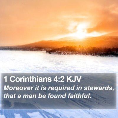 1 Corinthians 4:2 KJV Bible Verse Image