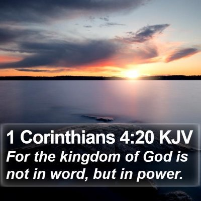 1 Corinthians 4:20 KJV Bible Verse Image