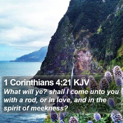 1 Corinthians 4:21 KJV Bible Verse Image