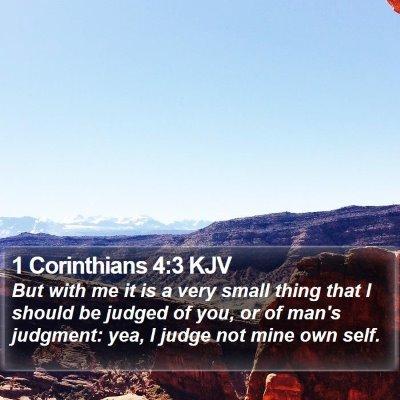 1 Corinthians 4:3 KJV Bible Verse Image