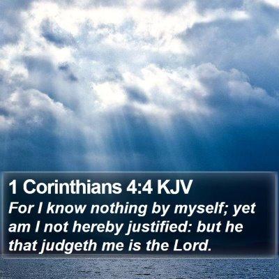 1 Corinthians 4:4 KJV Bible Verse Image