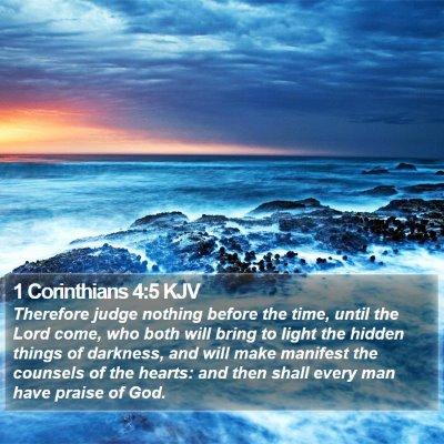 1 Corinthians 4:5 KJV Bible Verse Image