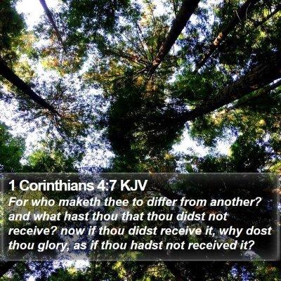 1 Corinthians 4:7 KJV Bible Verse Image
