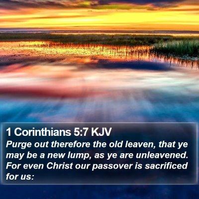 1 Corinthians 5:7 KJV Bible Verse Image