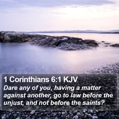 1 Corinthians 6:1 KJV Bible Verse Image