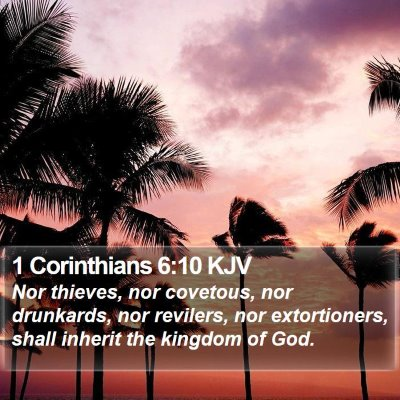 1 Corinthians 6:10 KJV Bible Verse Image