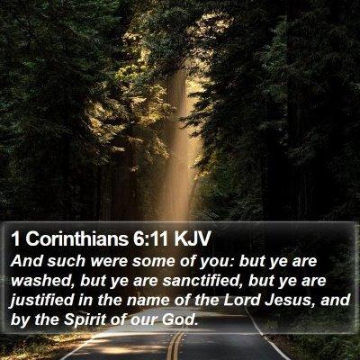 1 Corinthians 6:11 KJV Bible Verse Image