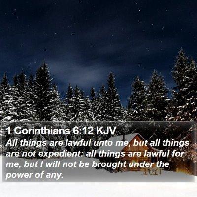 1 Corinthians 6:12 KJV Bible Verse Image