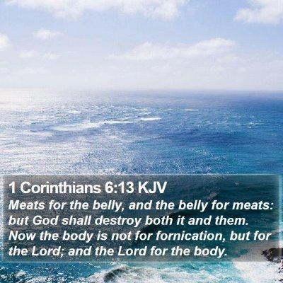 1 Corinthians 6:13 KJV Bible Verse Image