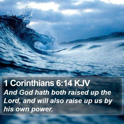 1 Corinthians 6:14 KJV Bible Verse Image
