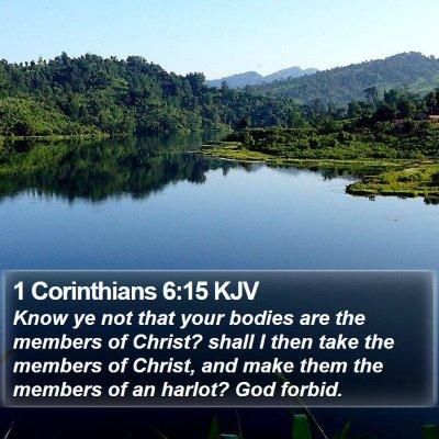 1 Corinthians 6:15 KJV Bible Verse Image