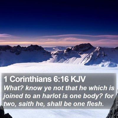 1 Corinthians 6:16 KJV Bible Verse Image