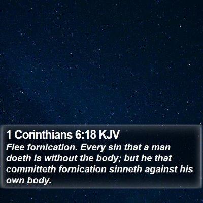 1 Corinthians 6:18 KJV Bible Verse Image