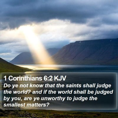 1 Corinthians 6:2 KJV Bible Verse Image