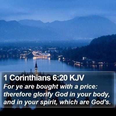 1 Corinthians 6:20 KJV Bible Verse Image