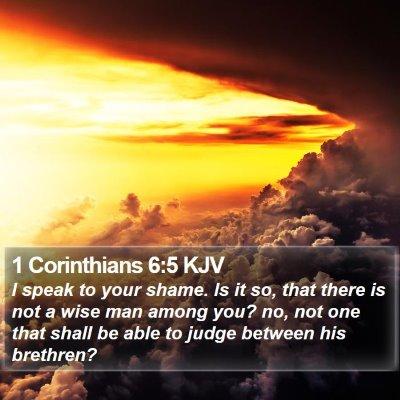 1 Corinthians 6:5 KJV Bible Verse Image