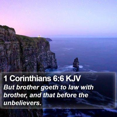 1 Corinthians 6:6 KJV Bible Verse Image