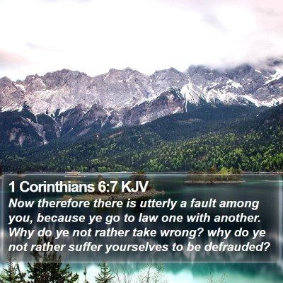 1 Corinthians 6:7 KJV Bible Verse Image