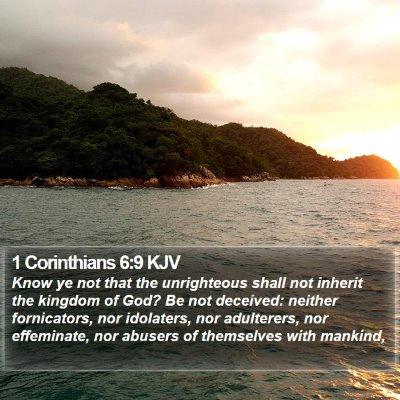 1 Corinthians 6:9 KJV Bible Verse Image
