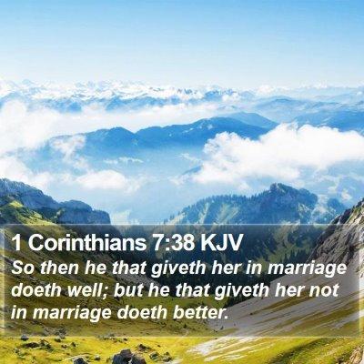 1 Corinthians 7:38 KJV Bible Verse Image