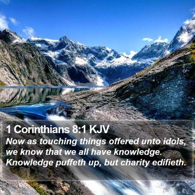 1 Corinthians 8:1 KJV Bible Verse Image