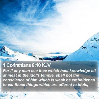 1 Corinthians 8:10 KJV Bible Verse Image
