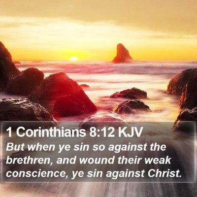 1 Corinthians 8:12 KJV Bible Verse Image
