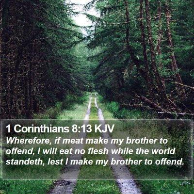 1 Corinthians 8:13 KJV Bible Verse Image