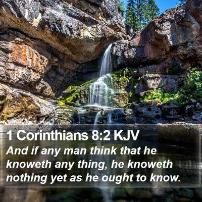 1 Corinthians 8:2 KJV Bible Verse Image