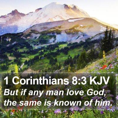 1 Corinthians 8:3 KJV Bible Verse Image