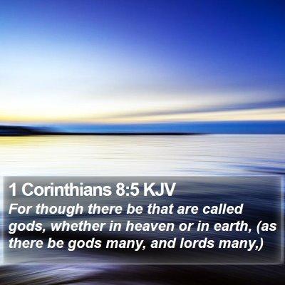 1 Corinthians 8:5 KJV Bible Verse Image