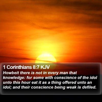 1 Corinthians 8:7 KJV Bible Verse Image