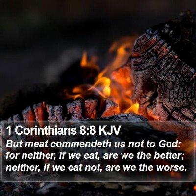 1 Corinthians 8:8 KJV Bible Verse Image
