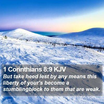 1 Corinthians 8:9 KJV Bible Verse Image