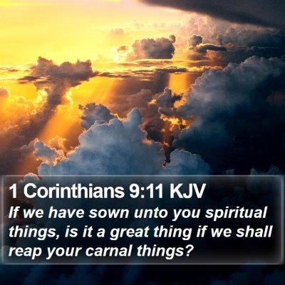 1 Corinthians 9:11 KJV Bible Verse Image