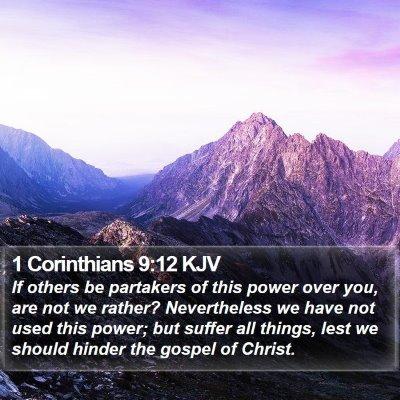 1 Corinthians 9:12 KJV Bible Verse Image