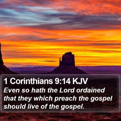 1 Corinthians 9:14 KJV Bible Verse Image