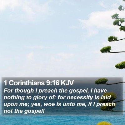 1 Corinthians 9:16 KJV Bible Verse Image