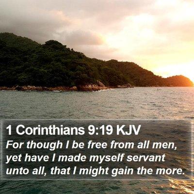 1 Corinthians 9:19 KJV Bible Verse Image
