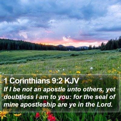 1 Corinthians 9:2 KJV Bible Verse Image