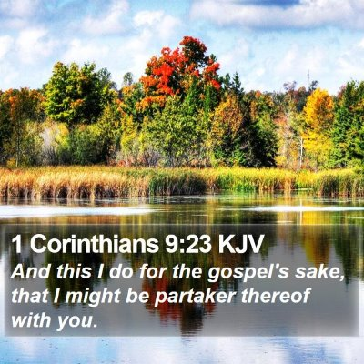 1 Corinthians 9:23 KJV Bible Verse Image