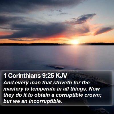 1 Corinthians 9:25 KJV Bible Verse Image